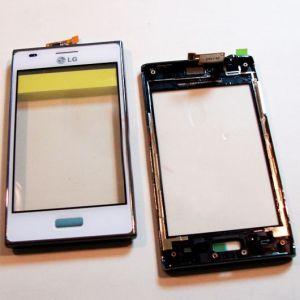 Тачскрин LG E610 Optimus L5/E612 Optimus L5 (в раме) (white)