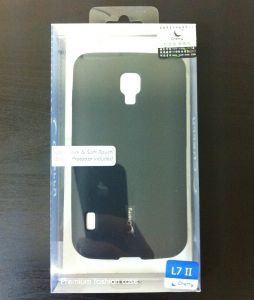 Накладка Cherry LG P715 Optimus L7 2 Dual Силикон (black) + защитная плёнка