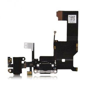 FLC (Шлейф) Apple iPhone 5 (на системный разъём, разъём гарнитуры, микрофон и антенну) (black) Оригинал