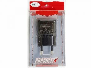Сетевое зарядное устройство Provoltz USB (2 выхода) (2,1 A) (black)