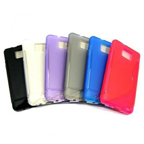 Накладка Samsung i9100 Galaxy S2/i9105 Galaxy S2 Plus силикон (white)