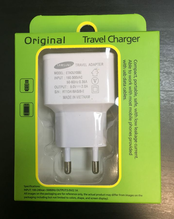 Сетевое зарядное устройство USB (2 A) (white)