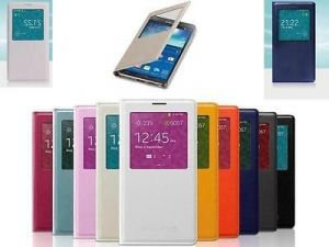 Чехол-книжка (View Cover) Samsung G355H Galaxy Core 2/G355H Galaxy Core 2 Duos с окошком (pink) Оригинал