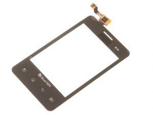 Тачскрин LG E405 Optimus L3 Dual (black) Оригинал