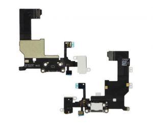 FLC (Шлейф) Apple iPhone 5 (на системный разъём, разъём гарнитуры, микрофон и антенну) (white) Оригинал