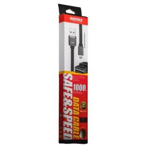 Кабель USB Remax Safe and Speed Apple iPhone 5/5C/5S/5/6/6 Plus/iPad 4/mini/iPod Touch 5/Nano 7 (1 метр) (black)