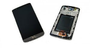 LCD (Дисплей) LG D855 G3 (в сборе с тачскрином) (в раме) (grey) Оригинал